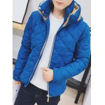 Color Block Zip Up Hooded Padded Jacket deal