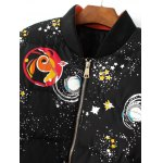 Starry Sky Print Quilted Jacket deal