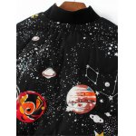 Starry Sky Print Quilted Jacket for sale