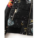 Starry Sky Print Quilted Jacket photo