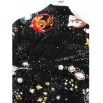 Slim Starry Sky Print Quilted Coat for sale