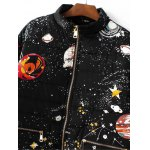 Slim Starry Sky Print Quilted Coat deal