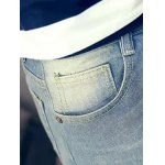 best Slim Fit Zipper Fly Jeans with Broken Hole