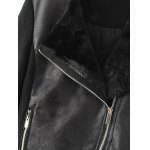 Faux Leather Fleece Lined Motorcycle Jacket for sale