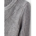 Crew Neck Tight Pullover Ribbed Sweater deal