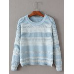 Crew Neck High Low Pullover Chunky Sweater