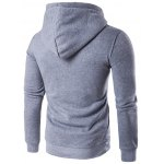 cheap Button Embellished Hooded Hoodie
