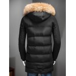 Zip Up Padded Coat with Fur Trim Hood deal