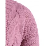 Cable Knit Plus Size Pullover Sweater deal
