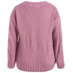 cheap Cable Knit Plus Size Pullover Sweater