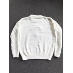 Crew Neck Patched Faux Pearl Sweater deal