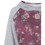 Active Floral Print Patch Design Hoodie for sale