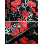 Stand Collar Zip Up Flower Printed Jacket photo