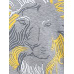 Lion Graphic Zipper Design Sweatshirt for sale