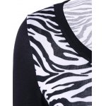 Plus Size Zebra Print Single Breasted Tee deal