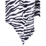 best Plus Size Zebra Print Single Breasted Tee