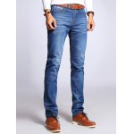 cheap Straight Leg Selvage Design Jeans in Taper Fit