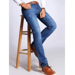 Straight Leg Selvage Design Jeans in Taper Fit deal
