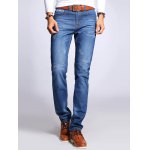 Zipper Fly Selvage Design Jeans in Taper Fit