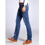 Straight Leg Selvage Design Jeans in Taper Fit for sale