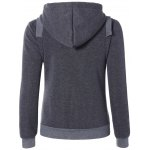 cheap Zip Up Pockets Embellished String Hoodie