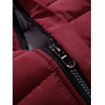 Button Embellished Zip Up Quilted Jacket deal
