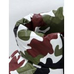 Funnel Neck Zip Up Camouflage Quilted Jacket deal