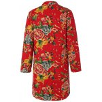 Chinese Style Floral Print Quilted Jacket for sale