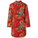 Chinese Style Floral Print Quilted Jacket