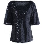 best Plus Size Sequined Short Sleeve Tee