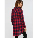 Plaid High Low Shirt for sale