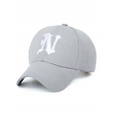 N Letter Embroidery Baseball Cap