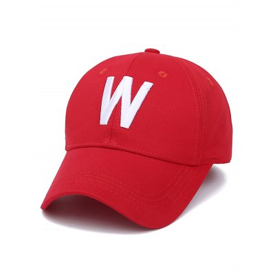 W Letter Embroidery Baseball Cap