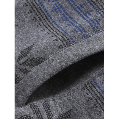 Snowflake Print Zip Up Flocking Hoodie от GearBest.com INT