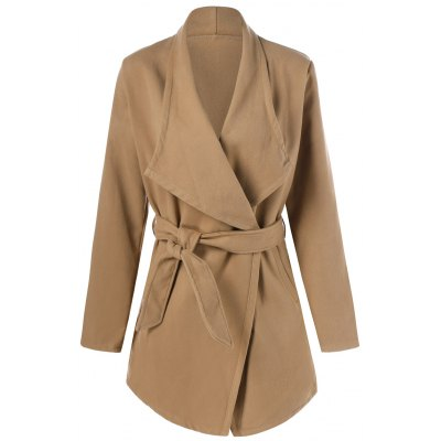Wool Trench Coat With Belt