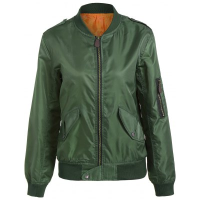 Zip Up Pilot Jacket with Pockets