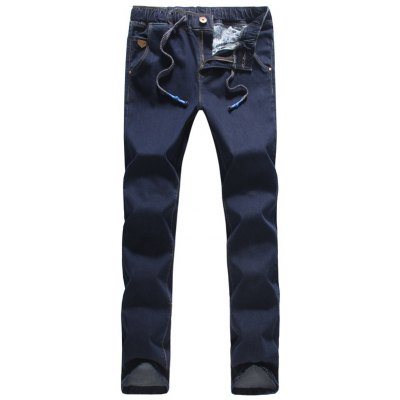 Drawstring Narrow Feet Jeans