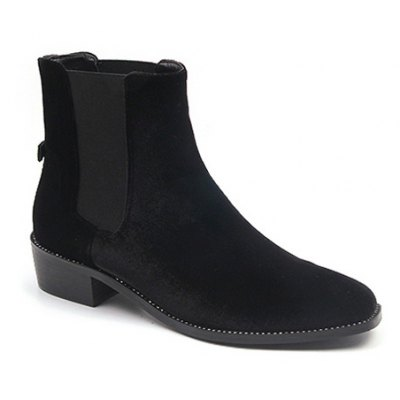 Splicing Flat Heel Ankle Boots