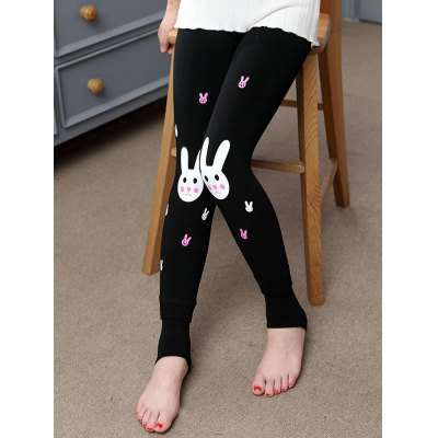 Rabbit Print Plush Lined LeggingsGirls Clothing<br>Rabbit Print Plush Lined Leggings<br><br>Style: Casual<br>Material: Polyester<br>Waist Type: Mid<br>Pattern Type: Character<br>Weight: 0.218kg<br>Package Contents: 1 x Leggings