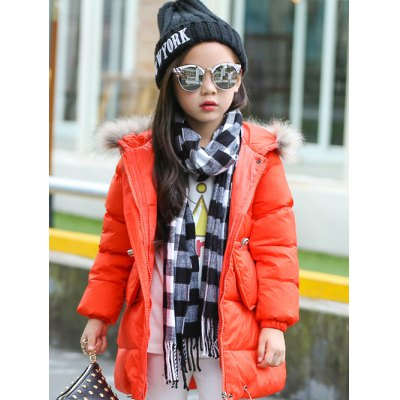 Solid Color Long Puffer Coat