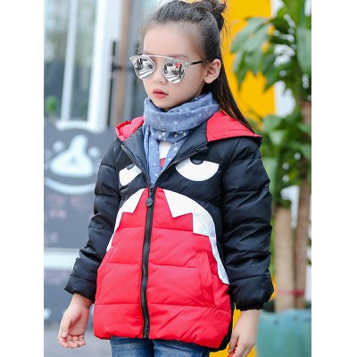 Hooded Cartoon Puffer Coat