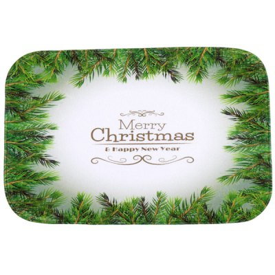 Christmas Tree Antiskid Water Absorb Carpet For Bathroom