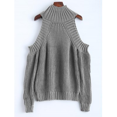 Funnel Neck Cold Shoulder SweaterSweaters &amp; Cardigans<br>Funnel Neck Cold Shoulder Sweater<br><br>Collar: Funnel Collar<br>Material: Acrylic<br>Package Contents: 1 x Sweater<br>Pattern Type: Solid<br>Season: Fall<br>Sleeve Length: Full<br>Style: Fashion<br>Type: Pullovers<br>Weight: 0.510kg