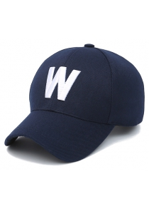 Embroidery W Letter Baseball Cap