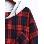 Plaid Button Up Panel Hoodie deal