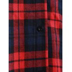 Plaid Button Up Panel Hoodie for sale