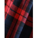 best Plaid Button Up Panel Hoodie