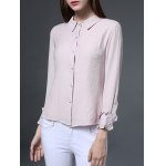 Long Sleeves Button Chiffon Shirt deal