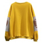 cheap Football Patched Panelled Yellow Sweatshirt