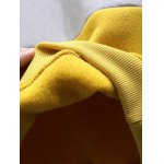 Football Patched Panelled Yellow Sweatshirt for sale